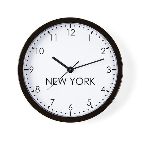 NEW YORK Modern Newsroom Wall Clock