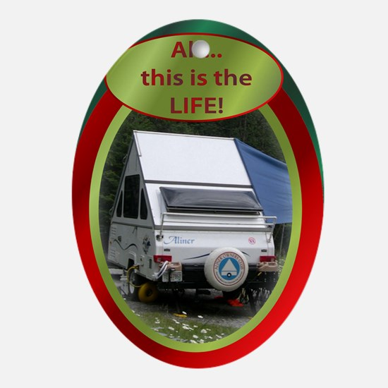 Camping Oval Ornament