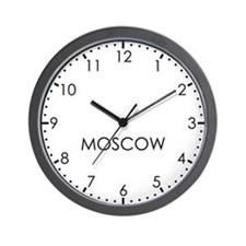 MOSCOW Modern Newsroom Wall Clock