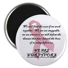 "Breast Cancer Survivors 2.25"" Magnet (100 pac"