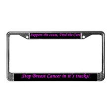 Cause Cure Stop Breast Cancer License Plate Frame