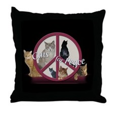 Cats for Peace Throw Pillow