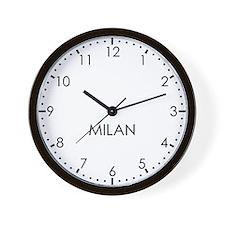 MILAN Modern Newsroom Wall Clock