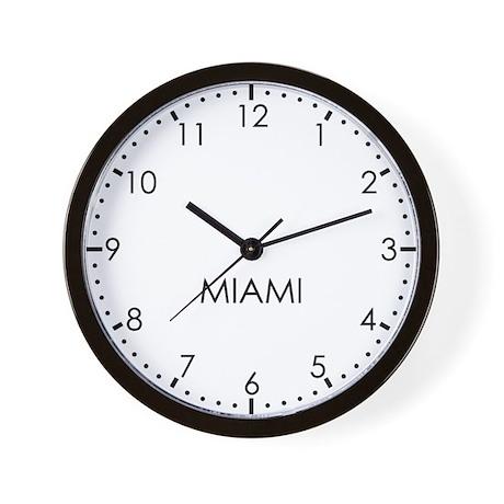 MIAMI Modern Newsroom Wall Clock