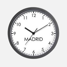 MADRID Modern Newsroom Wall Clock