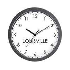 LOUISVILLE Modern Newsroom Wall Clock