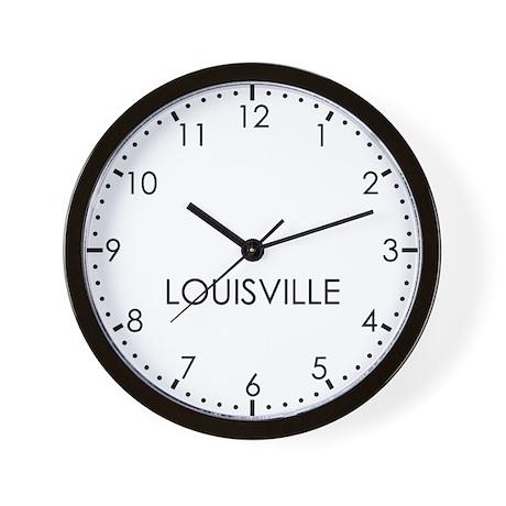 LOUISVILLE Modern Newsroom Wall Clock