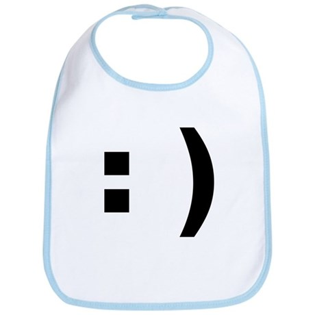 smiley emoticon Bib