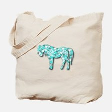 HeartHorse - Aqua Tote Bag