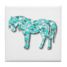 HeartHorse - Aqua Tile Coaster