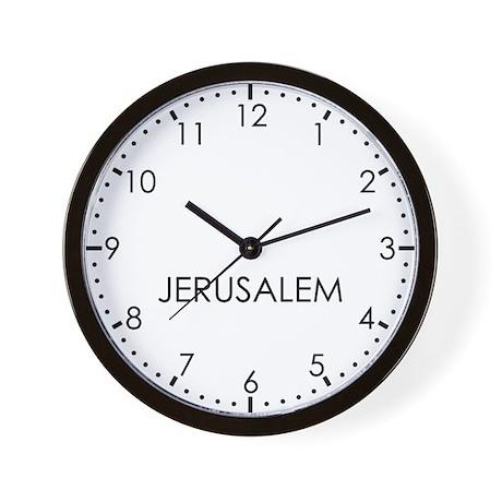 JERUSALEM Modern Newsroom Wall Clock