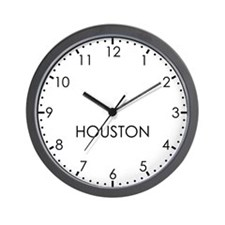 HOUSTON Modern Newsroom Wall Clock