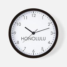 HONOLULU Modern Newsroom Wall Clock