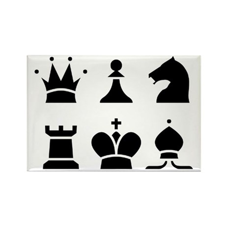 Chess Rectangle Shape Magnets 100 Pack