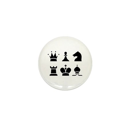 Chess White Mini Button