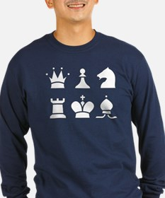 Chess Dark Shirt Long Sleeve T-Shirt