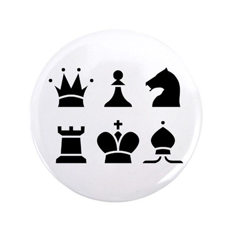"Chess 3.5 Inch Buttons 100 3.5"" Button (100 P"