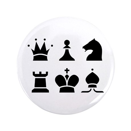 Chess 3.5 Inch Button