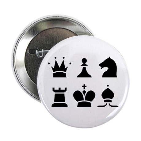 Chess 2.25 inch Buttons 100 pack