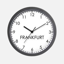 FRANKFURT Modern Newsroom Wall Clock