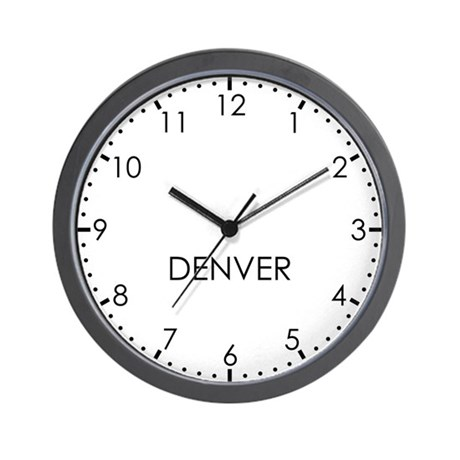 DENVER Modern Newsroom Wall Clock