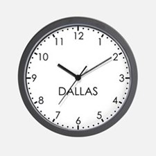 DALLAS Modern Newsroom Wall Clock