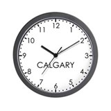 Time zone calgary Wall Clocks