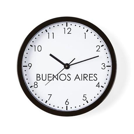 BUENOS AIRES Modern Newsroom Wall Clock