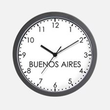 BUENOS AIRES Modern Newsroom Wall Clock