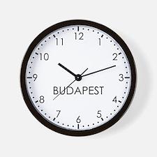 BUDAPEST Modern Newsroom Wall Clock
