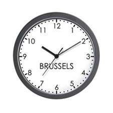 BRUSSELS Modern Newsroom Wall Clock