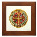 Framed Tile - Medal of St. Benedict