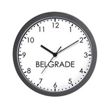 BELGRADE Modern Newsroom Wall Clock