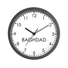 BAGHDAD Modern Newsroom Wall Clock