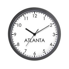 ATLANTA Modern Newsroom Wall Clock