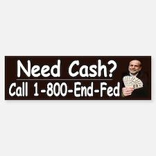 1-800-End-Fed ~ Bumper Bumper Sticker
