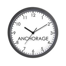 ANCHORAGE Modern Newsroom Wall Clock