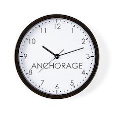 ANCHORAGE Modern Newsroom Wall Clock