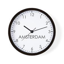 AMSTERDAM Modern Newsroom Wall Clock