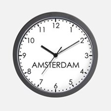 AMSTERDAM Modern Newsroom Wall Clock