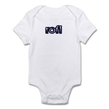 'Plain' Rolling On Floor Laug Infant Bodysuit