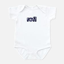 'Plain' Rolling On Floor Laug Infant Bodysuit