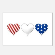 Red, white & blue Postcards (Package of 8)