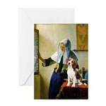 Woman w/Pitcher - Beagle Greeting Card