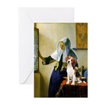 Woman w/Pitcher - Beagle Greeting Cards (Pk of 10)