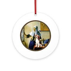 Woman w/Pitcher - Beagle Ornament (Round)