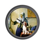 Woman w/Pitcher - Beagle Wall Clock