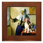 Woman w/Pitcher - Beagle Framed Tile
