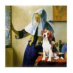 Woman w/Pitcher - Beagle Tile Coaster