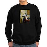 Woman w/Pitcher - Beagle Sweatshirt (dark)
